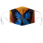 Blue Morpho Custom Face Mask