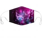 Iridescent Butterflies Custom Face Mask